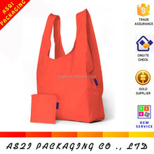 wholesale cheap portable foldable t-shirt non-woven shopping bag for supermarket