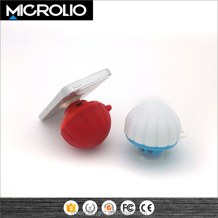 Wholesale mini Portable cute mushroom bluetooth speaker Electronic Funny gift phone holder 360 degree silicone case music