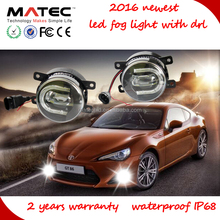 Matec auto led fog light with drl,led fog light for renault duster,battery powered led fog light bar