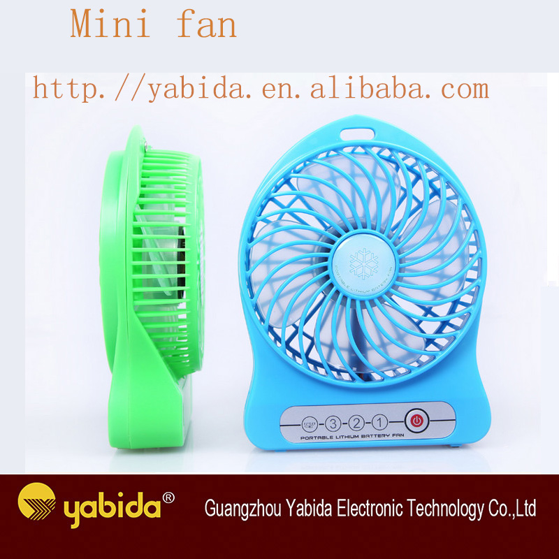 Factory direct sale 9V DC portable mini rechargeable usb fans with battery