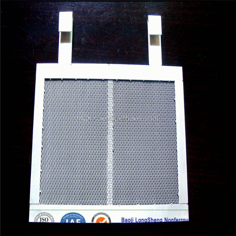 platinized titanium mesh anode for swimming pool
