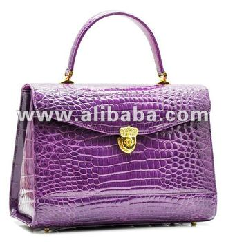 Genuine Crocodile Skin Handbag