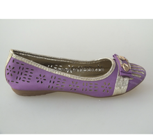 EVA outsole picture of women flat shoes with colorful buckle