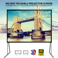 Super HD front & rear fast foldable projection screen /Portable mobile projector screen with matte white curtain