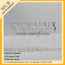 Various in color mini glass perfume tube travel bottle