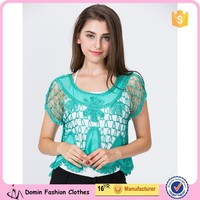 China Manufacturer 2015 Popular Ladies' Crochet Top and Blouse