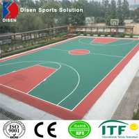 Outdoor Silicon PU basketball court flooring made in China low cost high quality sport floor for sale