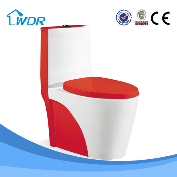 Colorful toilet Sanitary bathroom porcelain red one-piece toilet