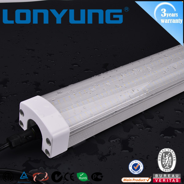 new isolated driver tri-proof led tube light price brightness led light fitting 40w to 60w IP65 water proof