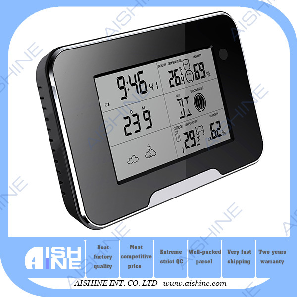 5MP CMOS Full HD 1080P Wi-Fi Hidden Alarm Wall Weather Station Clock S py Nanny Camera