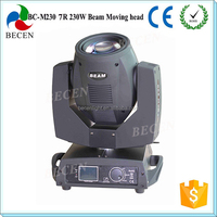 Strong beam smooth move 230w sharpy 7r beam moving head light
