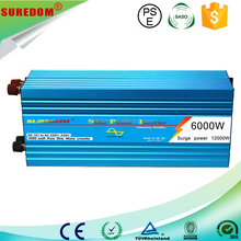 Suredom High quality 24VDC to 240VAC 50Hz 60Hz 6000w pure sine wave inverter / dc inverter air conditioner
