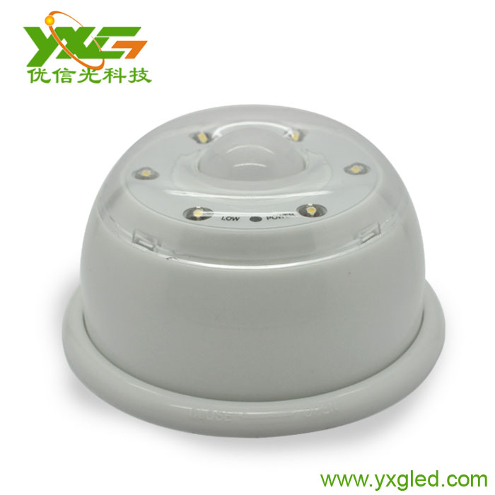 LED white PIR infrared motion sensor 6W led light