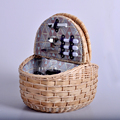 Wholesale new style large willow wicker picnic basket for 4 persons