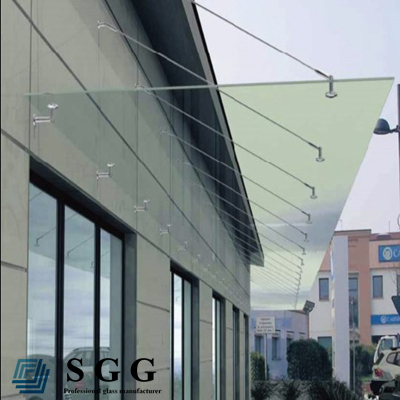 Shenzhen manufacturer 10mm safety glass awning glass door canopy