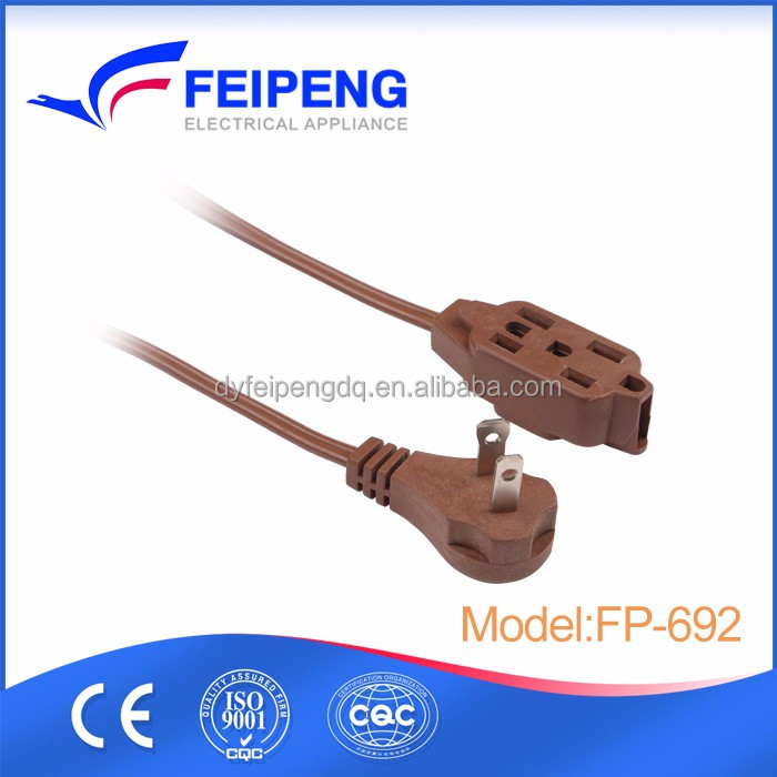 2 pin plug US standard power extension leads