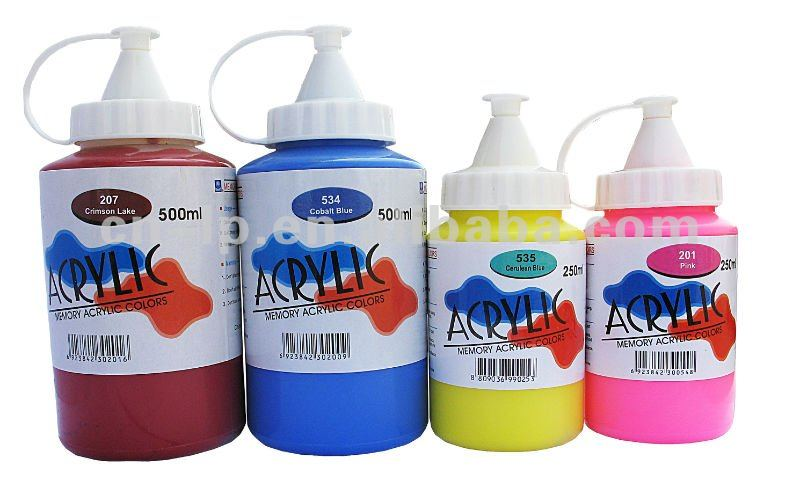 Memory wholesale professional 250ml Artist Acrylic Paint bottle non toxic stocked LOW MOQ