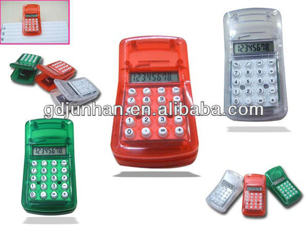 electronic magnet gifts mini clip calculator