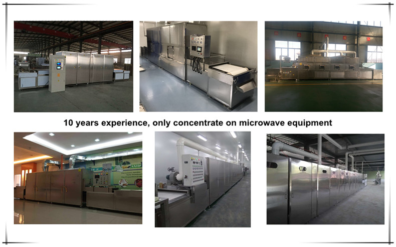 New turnkey microwave infrared combination baking machine for cookie