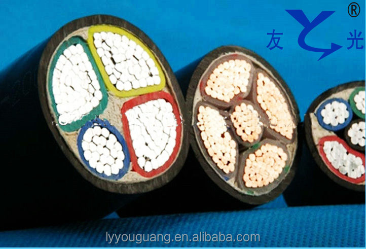 4 core cable, 5 core cable PVC insulated aluminum power aerial cable