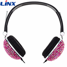 Newest Bling Headphones with Crystal Rhinestone Earphones for Mobile Phone PC