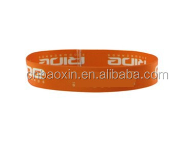 2015 Nylon custom sublimation printed elastic wrist bands