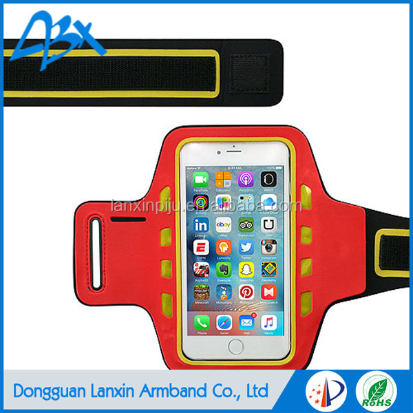 Universal water resisitant armband led flexble and light weighted for iphone 6/6S & Samsung Galaxy S7