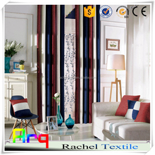 latest fabric fashion Rainbow stripe style - Chenille jacquard fabric for curtain/ sofa/cushion