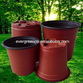 plastic black flower pot,big gallon garden pots