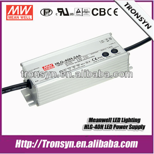 Meanwell LED Driver HLG-40H-36(40W 36V) Switching Waterproof LED Dirver IP67 Built-in Dimming and PFC