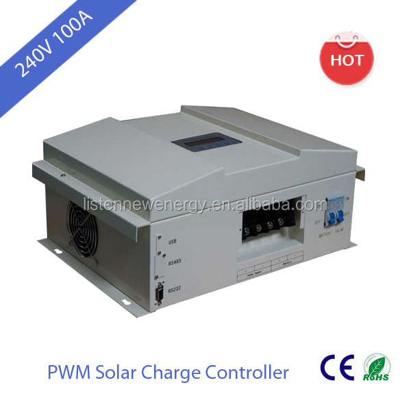 High voltage 240V 100A Solar Charger Controller free RS232 communication port LCD display China originaldesign