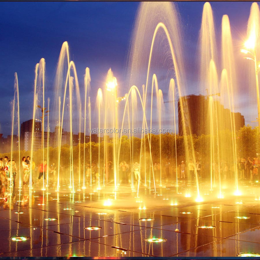 Outdoor Floor Fountain Water Features With RGB Led Light