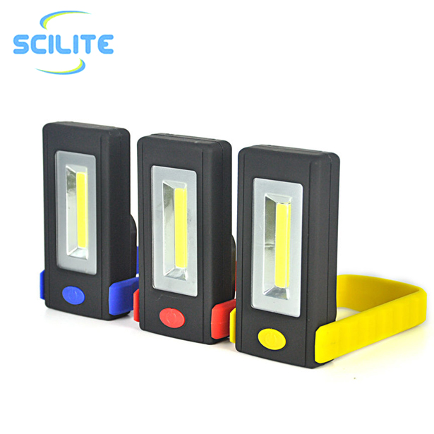 Rotating Hook COB Work Light with Carabiner Magnetic led worklight for inspection