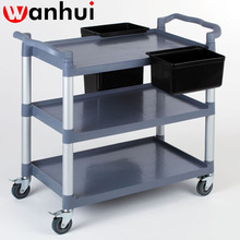 1.0mm Thickness Assembled 2 layers Stainless Steel Wine Trolley with universal wheel hotel trolley restaurant fast food equiment
