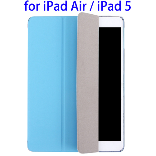 Great Selection Plain Weave Texture PU Case for iPad Air