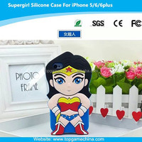 funky mobile phone case for iphone 6 plus supergirl silicone case