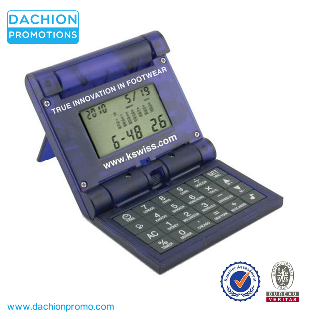 Promotional Double Flipper Calculator And World Time Clock