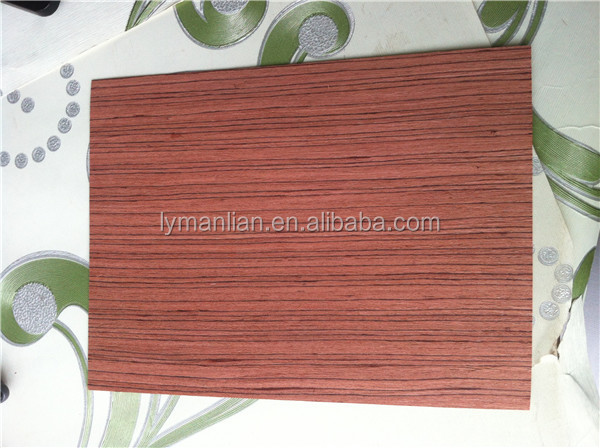 sliced cut 0.3mm Red sandalwood recon furniture /recomposed Paorosa wood veneer/ for furniture