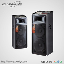 200w dual 15 inch outdoor bluetooth speaker with fm radio used pa system for sale
