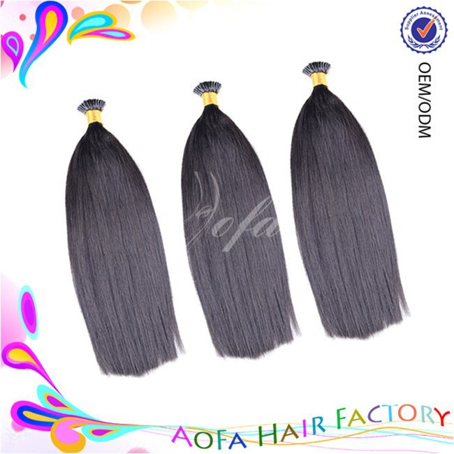 Hot sell 7A grade 100% raw indian 10-30 inch i tip hair extension