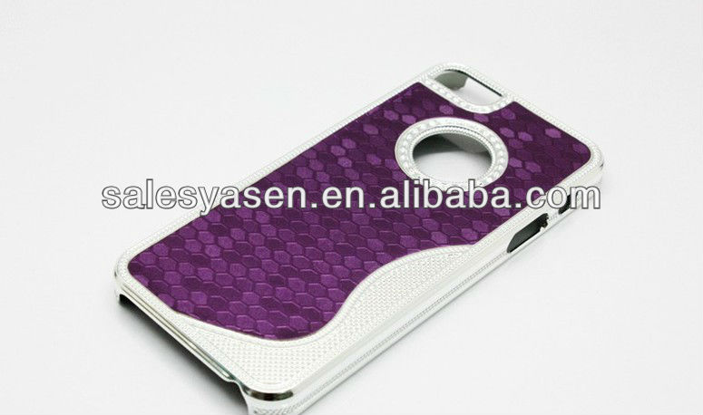 custom design cell phone Electroplating Diamond bling hard case for iphone5