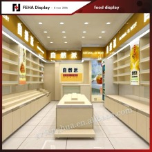 Customized food display rack / food display stand / food shelf for shop mall