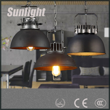 modern DUL Retro frosted iron industrial and mining loft metal pendant lamp/light