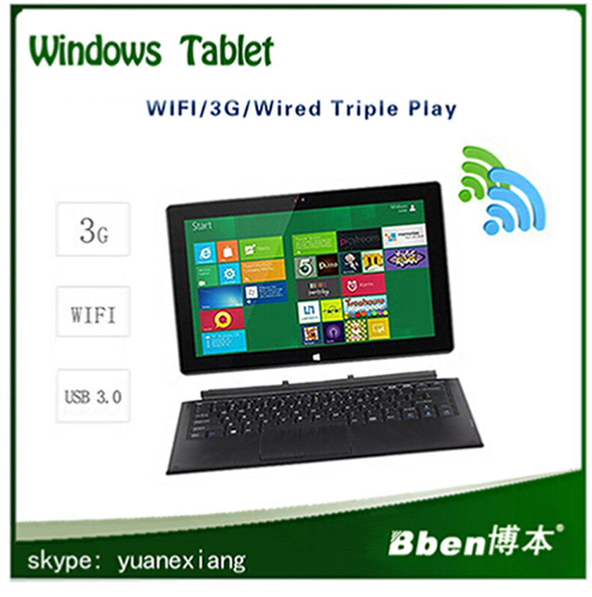 2014 Newest windows XP /7/8/8.1 OS Dual core Dual camera keyboard Tablet pc build in 3G
