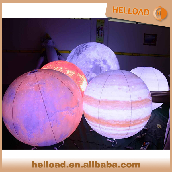 Factory Price LED Inflatable Nine Planet Hanging Balloon Mars, Saturn Balloon