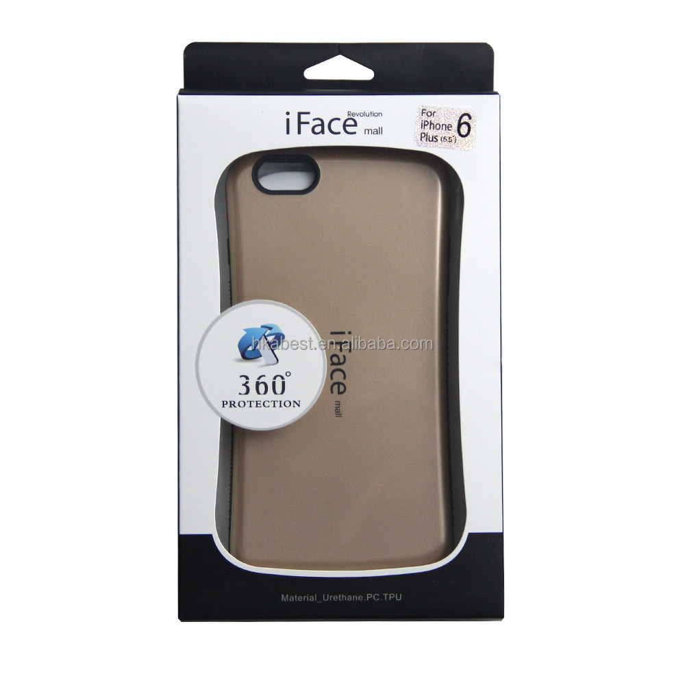 "For iPhone 6 Plus PC Silicone Combo case cover iFace Mall, for iPhone 6 5.5"" anti-shock hybrid back protective mobile phone case"