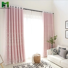 Hafei double layer macrame lace curtains for dressing room decorative eyelets
