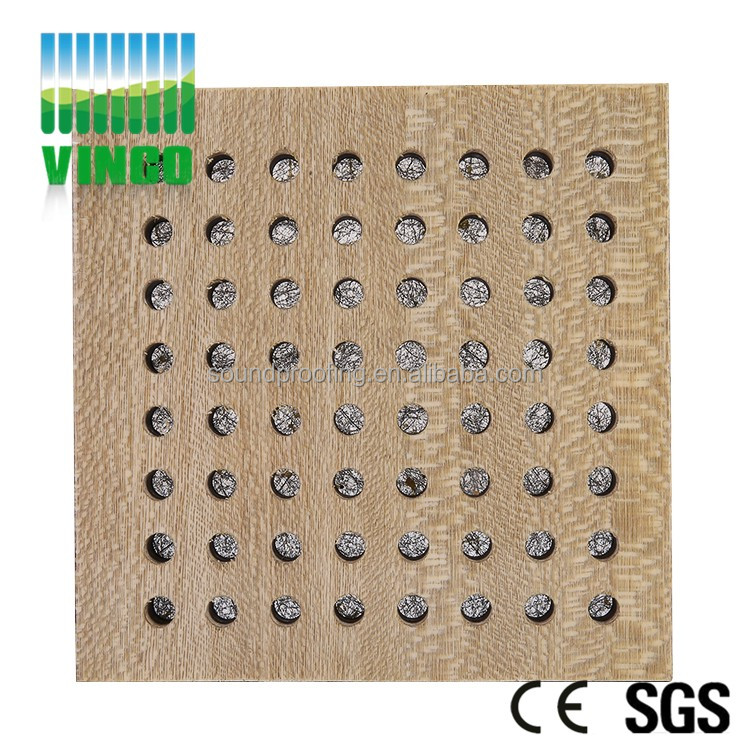Perforate Acoustic wall ceiling wooden panel Sound insulation wall panel Melamine laminate Foam Panel