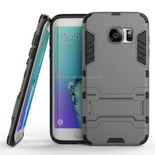 hot selling deluxe armor phone case with kickstand for samsung galaxy s7 edge,shock proof hard pc back cover