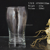Clear High quality machine blowned beer and cola glass cup